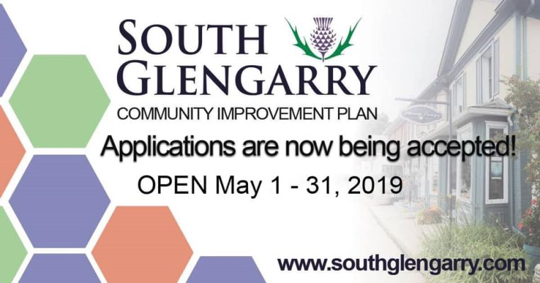 South Glengarry Logo with text describing the time frame for Community Improvement Plan Applications