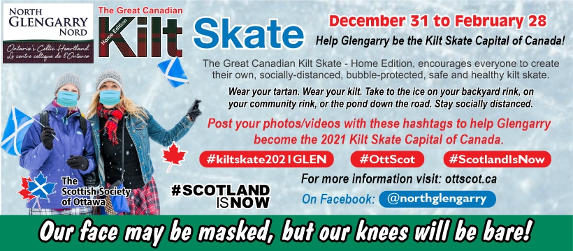 The Great Canadian Kilt Skate Returns to North Glengarry